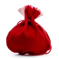 高档精细做工大号单面红色绒布袋束口抽绳礼品袋 饰品首饰袋批发 6072-8