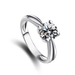 千族银饰  高质量浪漫奢华气质八心八箭925锆石戒指2014123