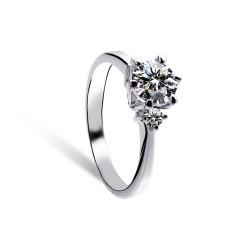 KELAKELA 结婚对戒指 六爪皇冠戒子 八心八箭锆石求婚钻戒2014798