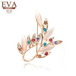 EVA颐娲 高端胸针品牌韩版满钻猫眼石不规则胸针 时尚百搭 服装搭配5714
