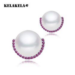 KELAKELA 韩国新时尚锆石复古珍珠款耳夹耳坠耳钉 厂家直销 K025