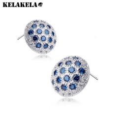 KELAKELA 韩国进口奢华大耳钉 奥地利水晶锆石新娘 OL耳饰 K052