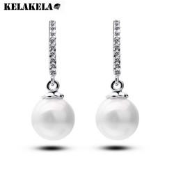 KELAKELA  高端私人订制锆石珍珠耳坠 女配饰耳钉 珠宝款 雅姿K078