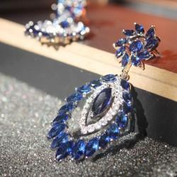 KELAKELA  韩国复古波西米亚长款耳环 女神范锆石耳饰品 耳钉K106