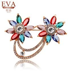 EVA颐娲 高端胸针品牌 珠宝系列胸花开衫别针韩国披肩扣夜来香5892