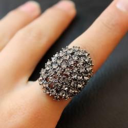 天奢TIANSHE 欧美时尚外贸 霸气满钻水晶戒指 2014102-93