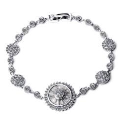 KELAKELA 外贸流行珠宝 AAA级锆石 星光闪耀手链 瑞丽杂志款 K129