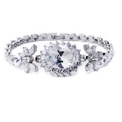 KELAKELA 新款珠宝首饰 防过敏镶嵌宝石手链 厂家直销锆石女K125