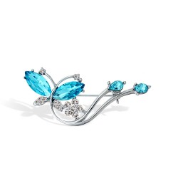 韩国时尚 蜻蜓水晶胸针批发高档镶钻胸花领针衣饰4658
