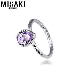 MISAKI米莎崎 韩版新款进口 奥地利水晶戒指 女款 情侣对戒 尾戒 时尚饰品 M033