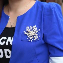 西凉妃子珠宝首饰彭妈妈款天然淡水珍珠胸花 胸针女X119