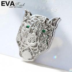 EVA颐娲 高端胸针品牌  满钻豹面具胸针 欧美潮流风格6367