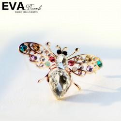 EVA颐娲 高端胸针品牌  满钻小蜜蜂 高档水晶 女生爱 可爱 6402