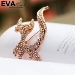 EVA颐娲 高端胸针品牌 欧美时尚个性风 猫咪胸针 别针 新款男士装扮配饰 6400