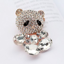 EVA高端胸针 满钻水晶卡通芭比熊 可爱 动物 送女友礼物 6416