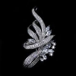 EVA颐娲高档品牌胸针 女水晶饰品 韩国西装胸花 别针披肩扣 配饰 6455