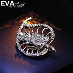 EVA高档胸花  气质微镶锆石树叶子胸针 别针 西服配饰 6478