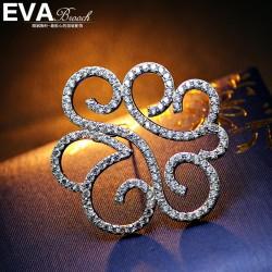 EVA高档胸花 气质微镶锆石不规则线条胸针 别针 6513