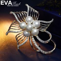 EVA高档胸花 气质花卉珍珠百搭胸针 送女友礼物 西服配饰 6514