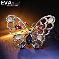 EVA高档胸花 气质满钻百搭蝴蝶胸针 气质别针 送女友礼物 西服配饰  6519