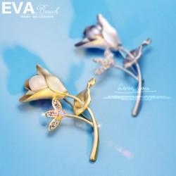 EVA颐娲高端胸针 大气上档次气质珍珠 胸花 优雅别针 6713