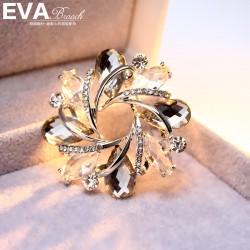 EVA颐娲 高端胸针品牌 满钻 水晶 送礼物 花蕾 6346-90