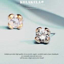 KELAKELA 气质时尚潮流百搭精致锆石耳钉耳环 女 情人节礼物 K210