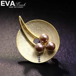 EVA颐娲高端胸针 气质复古个性风珍珠圆胸针 别具一格 6742