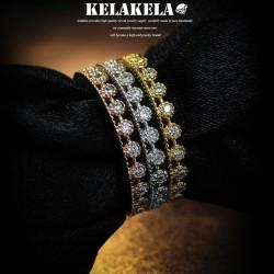 KELAKELA 个性时尚简约流行日韩版饰品锆石细戒指指环尾指食指 K1014