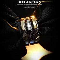 KELAKELA 个性时尚简约风日韩版饰品情侣对戒锆石细戒指女指环食指 K1054