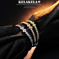 KELAKELA 个性时尚简约风日韩版饰品锆石蝴蝶细戒指女指环食指 K1032