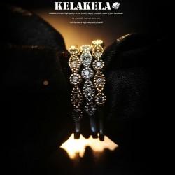 KELAKELA 个性时尚简约风日韩版饰品情侣对戒锆石细戒指女指环食指 K1047