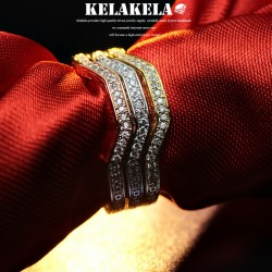 KELAKELA 个性时尚简约风日韩版饰品情侣对戒锆石细戒指女指环食指 K1049