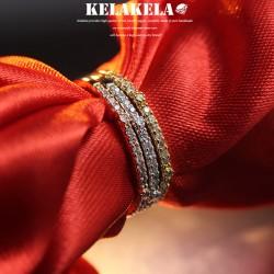 KELAKELA 个性时尚简约风日韩版饰品情侣对戒锆石细戒指女指环食指 K1038