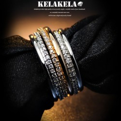 KELAKELA 个性时尚简约风日韩版细戒指女指环食指韩国饰品 K1020