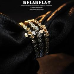 KELAKELA 个性时尚简约风日韩版饰品情侣对戒锆石镂空皇冠细戒指女指环食指 K1050