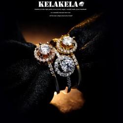 KELAKELA 日韩版时尚简约饰品女戒指指环尾指食指一克拉的梦想K1017