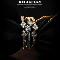 KELAKELA 个性时尚简约风日韩版饰品情侣对戒开口箭头桃心戒指女指环食指 K1048