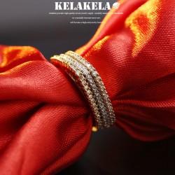 KELAKELA 个性时尚简约风日韩版饰品情侣对戒圆角形戒指女指环食指 K1043