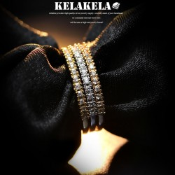 KELAKELA 个性时尚简约风日韩版饰品情侣对戒锆石细戒指女指环食指 K1055