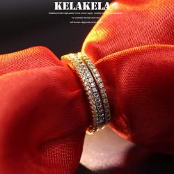 KELAKELA 个性时尚简约风日韩版饰品情侣对戒细戒指女指环食指 K1041