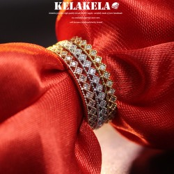 KELAKELA 个性时尚简约风日韩版饰品情侣对戒细戒指女指环食指 K1040