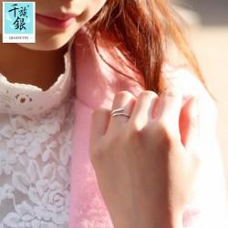 千族银珠宝品牌首饰 高档S925纯银迷你五角星开口戒指 韩版创意新品配饰 女 Q159