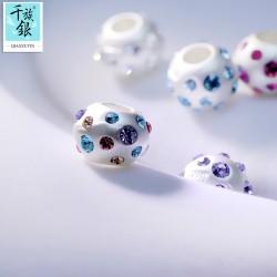 千族银 潘家奇妙珠子DIY配件手链项链吊坠时尚手工饰品 Q176