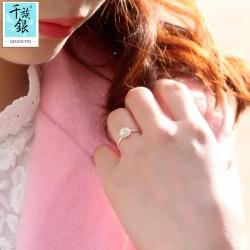 千族银珠宝品牌首饰 高档S925纯银小雏菊花朵开口戒指 韩版创意新品配饰 女 Q165