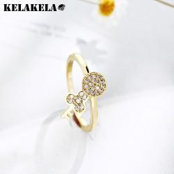 KELAKELA 日韩创意个性小钥匙可活动圈戒指 日常原宿风百搭配饰 女 N285