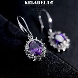 KELAKELA品牌首饰 高档铜锆石微镶耳环 韩版精品宫廷配饰 女 K308