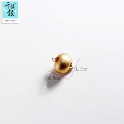 千族银珠宝品牌首饰配件 生肖猴吊坠项链手链 DIY手工 Q182