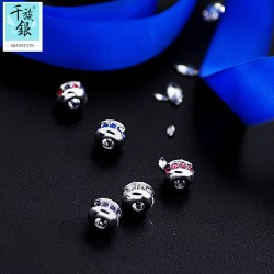 千族银珠宝品牌首饰配件 可自行搭配项链手链DIY串珠银配饰 Q178