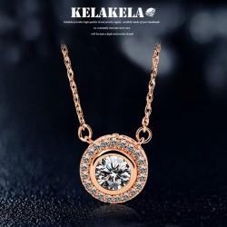 KELAKELA 铜锆石微镶项链 K310 【项链+7色锆石/套】